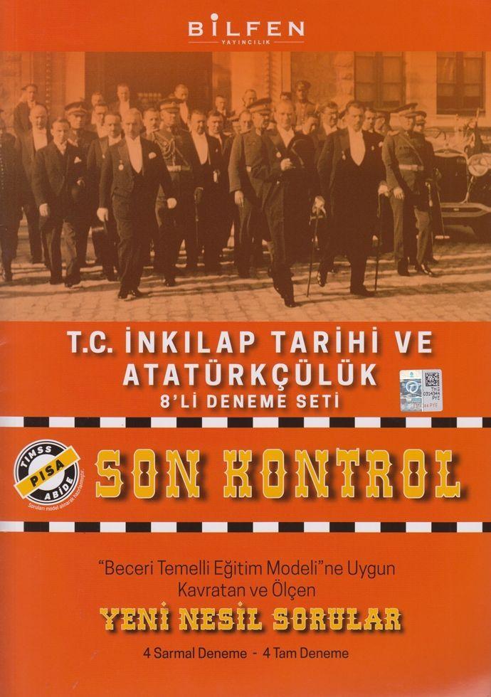 Bilfen Yayınları 8. Sınıf T.C. İnkılap Tarihi ve Atatürkçülük Son Kontrol 8 li Deneme Seti