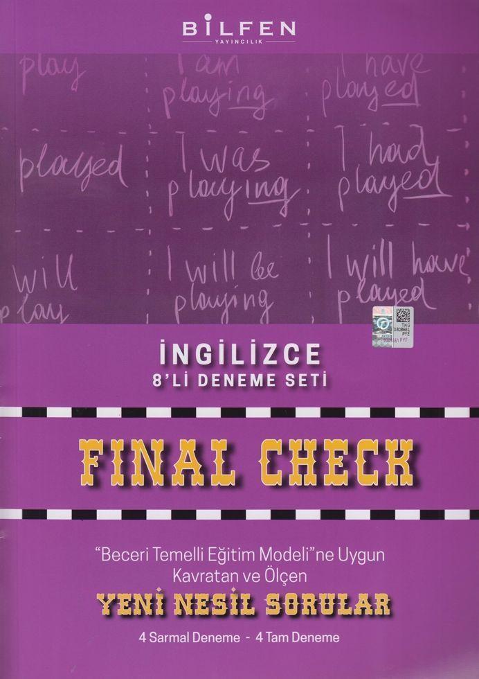 Bilfen Yayınları 8. Sınıf İngilizce Final Check 8 li Deneme Seti