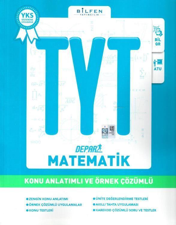 Bilfen Yayınları TYT Depar Matematik Konu Anlatımlı ve Örnek Çözümlü