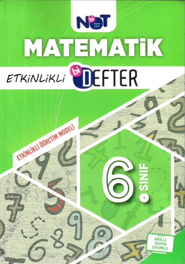BiNot Yayınları 6. Sınıf Matematik Etkinlikli Bi Defter