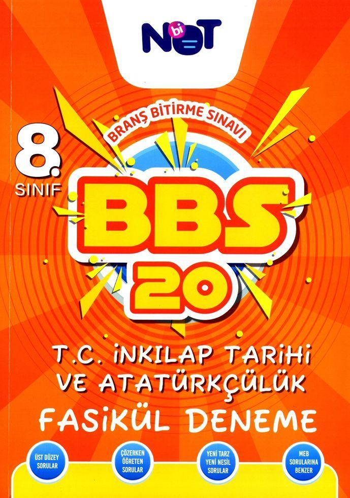 BiNot Yayınları 8. Sınıf T.C. İnkılap Tarihi ve Atatürkçülük BBS 20 Fasikül Deneme
