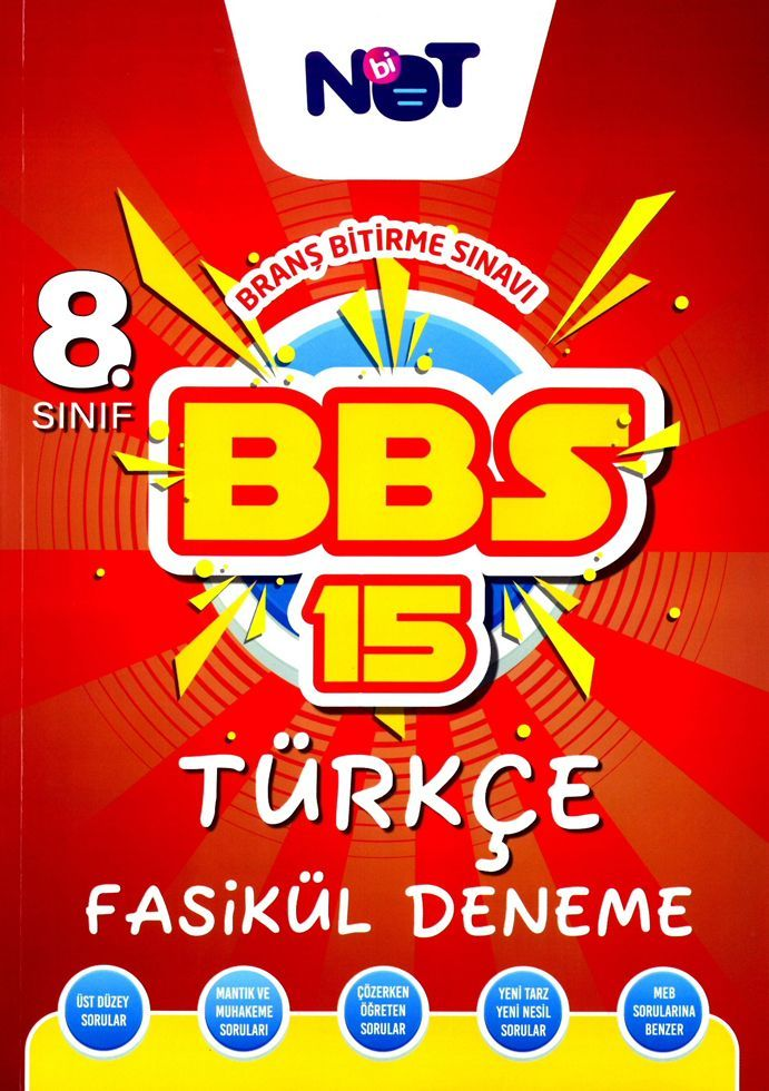BiNot Yayınları 8. Sınıf Türkçe BBS 15 Fasikül Deneme
