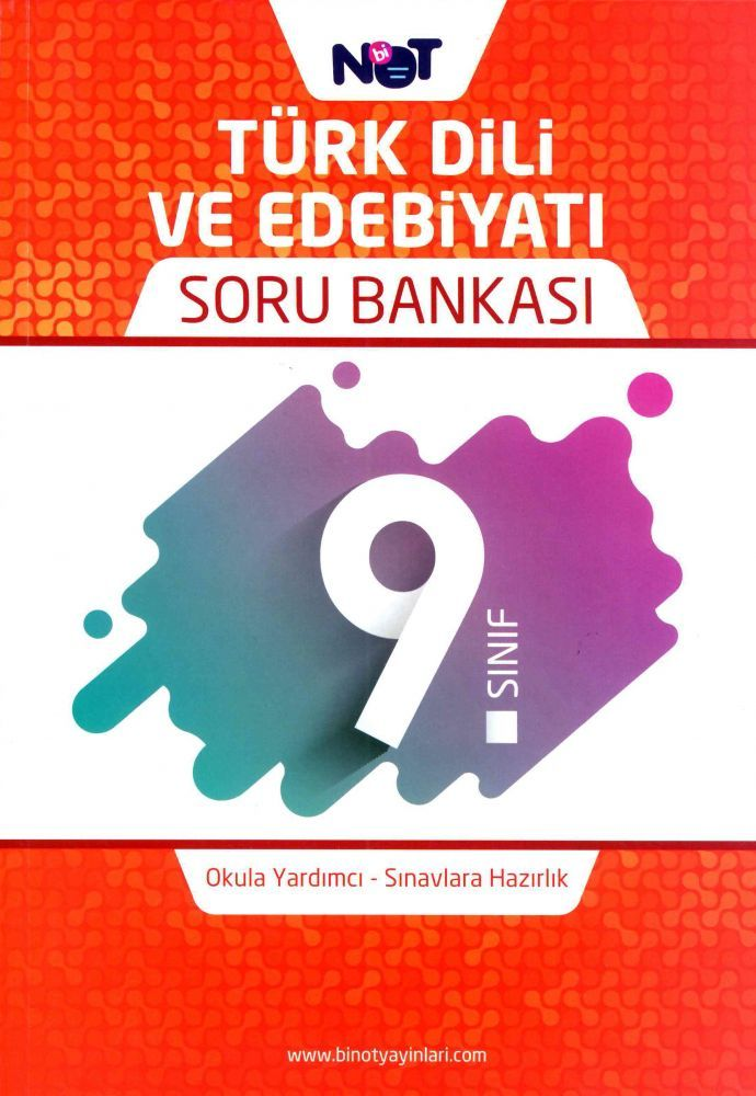 BiNot Yayınları 9. Sınıf Türk Dili ve Edebiyatı Soru Bankası