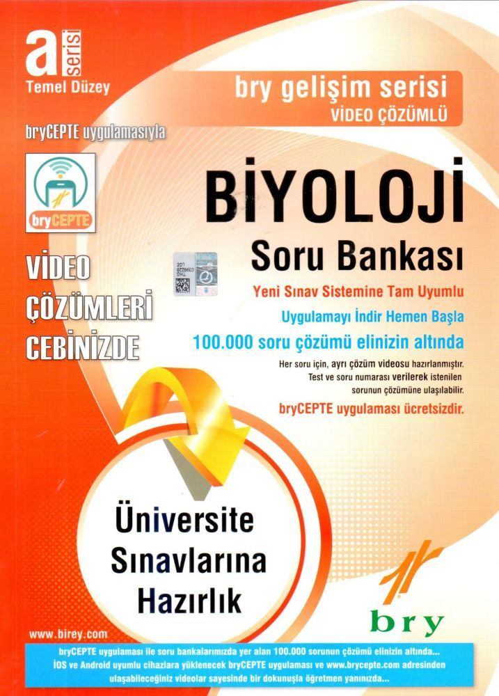 Birey A Serisi Temel Düzey Biyoloji Video Çözümlü Soru Bankası