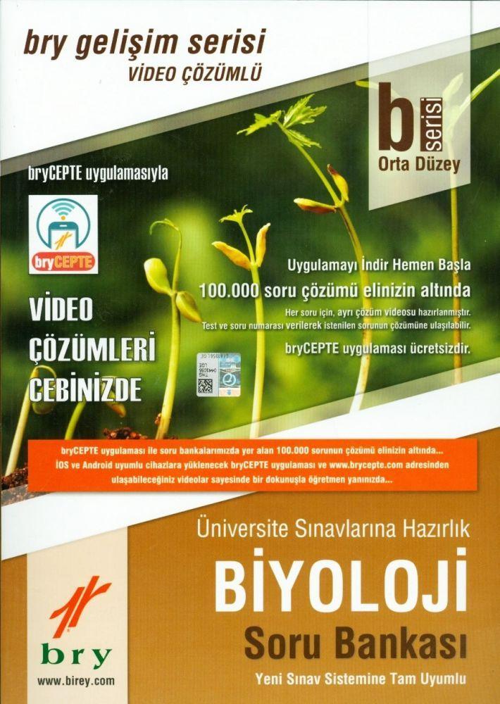 Birey B Serisi Orta Düzey Biyoloji Video Çözümlü Soru Bankası Gelişim Serisi