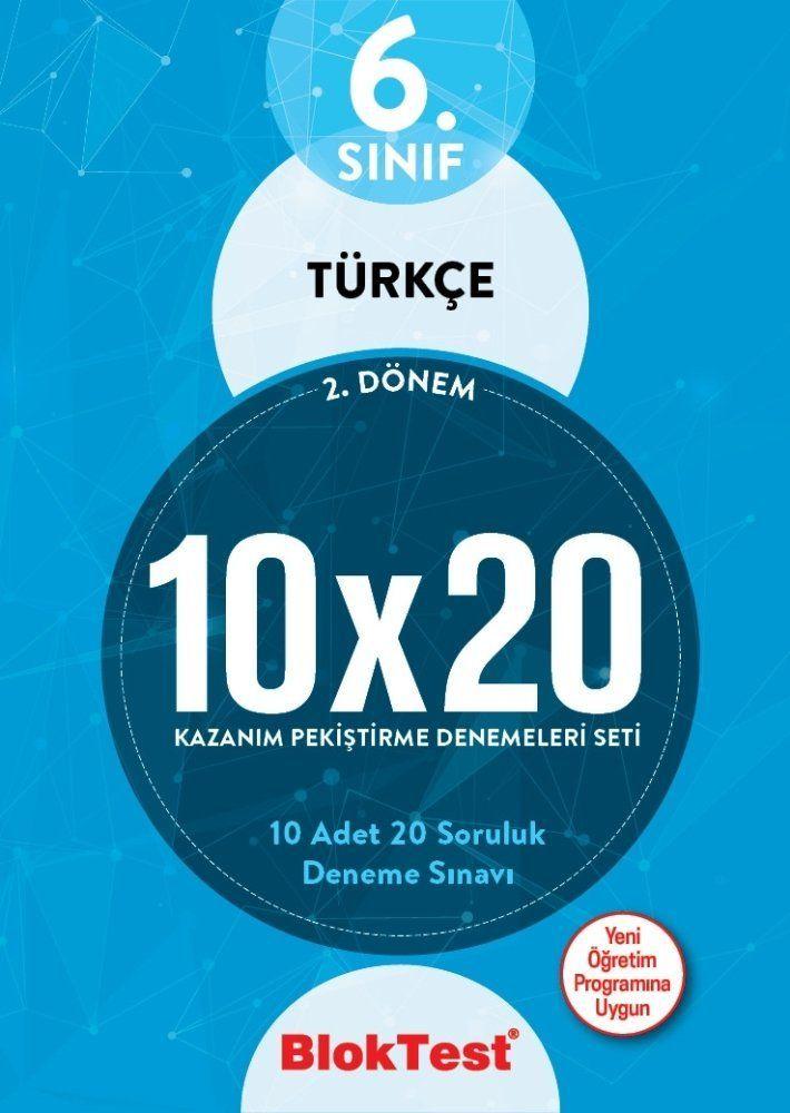 Bloktest Yayınları 6. Sınıf 2. Dönem Türkçe 10x20 Deneme Seti
