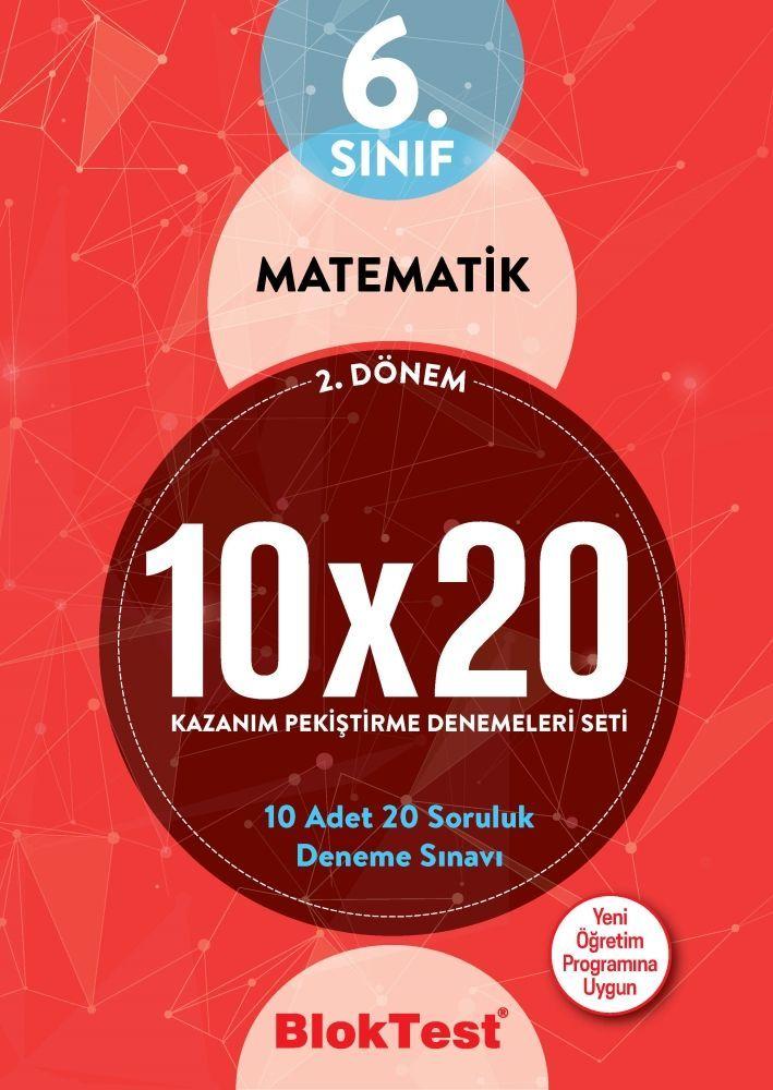 Bloktest Yayınları 6. Sınıf 2. Dönem Matematik 10x20 Kazanım Pekiştirme Denemeleri Seti