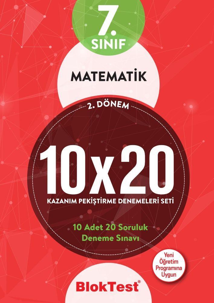 Bloktest Yayınları 7. Sınıf 2. Dönem Matematik 10x20 Kazanım Pekiştirme Denemeleri Seti