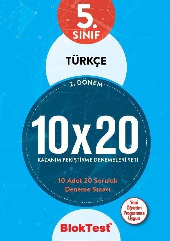Bloktest Yayınları 5. Sınıf 2. Dönem Türkçe 10x20 Kazanım Pekiştirme Denemeleri Seti