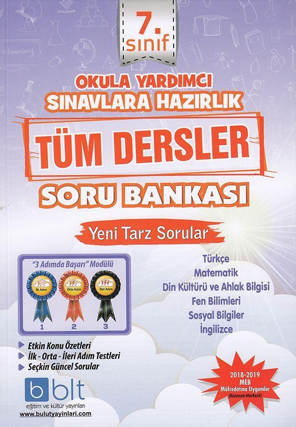 Bulut Eğitim ve Kültür Yayınları 7. Sınıf Tüm Dersler Soru Bankası