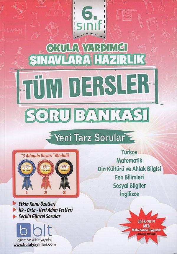 Bulut Eğitim ve Kültür Yayınları 6. Sınıf Tüm Dersler Soru Bankası