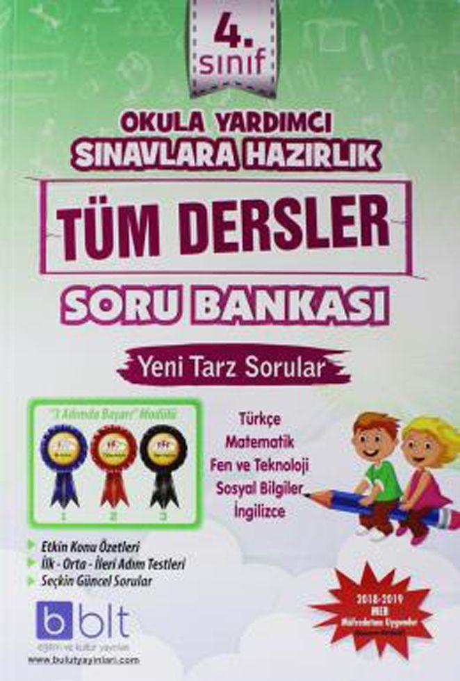 Bulut Eğitim ve Kültür Yayınları 4. Sınıf Tüm Dersler Soru Bankası