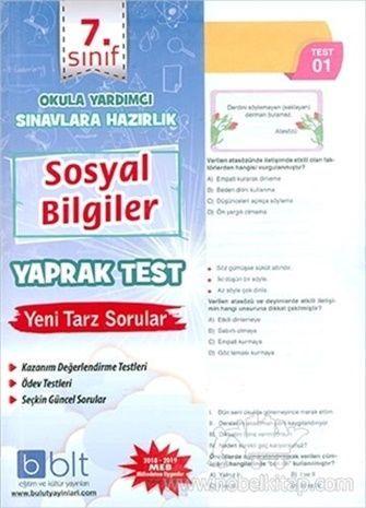 Bulut Eğitim Yayınları 7. Sınıf Sosyal Bilgiler Yaprak Test