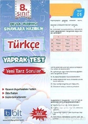 Bulut Eğitim Yayınları 8. Sınıf Türkçe Yaprak Test