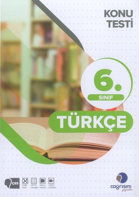 Çağrışım Yayınları 6. Sınıf Türkçe Konu Testi