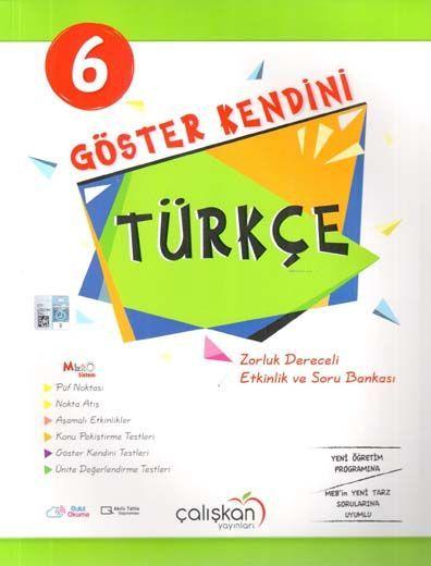 Çalışkan Yayınları 6. Sınıf Türkçe Göster Kendini Etkinlik ve Soru Bankası