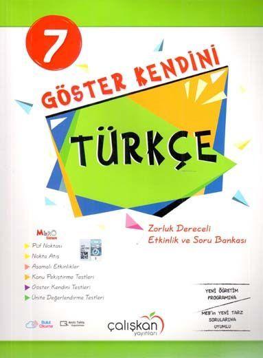 Çalışkan Yayınları 7. Sınıf Türkçe Göster Kendini Etkinlik ve Soru Bankası