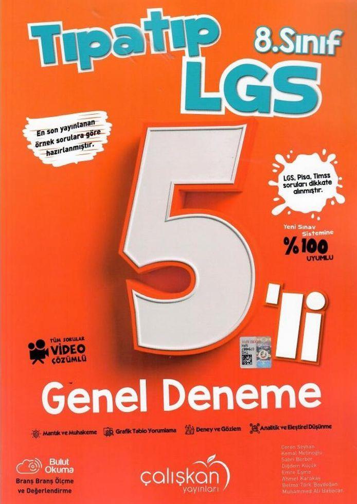 Çalışkan Yayınları 8. Sınıf LGS Tıpatıp 5 li Genel Deneme