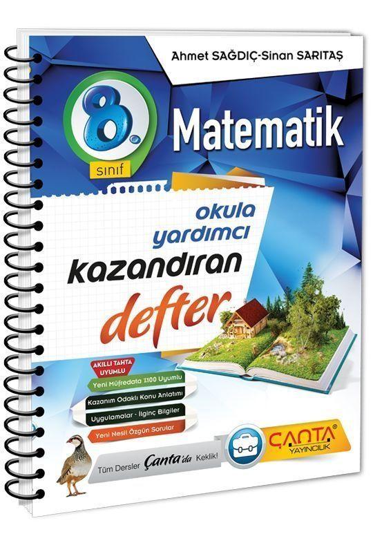 Çanta Yayınları 8. Sınıf Matematik Kazandıran Defter