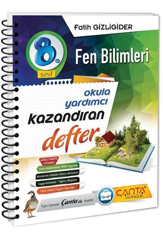 Çanta Yayınları 8. Sınıf Fen Bilimleri Kazandıran Defter