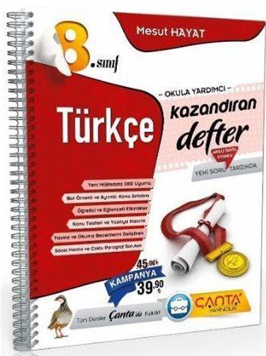 Çanta Yayınları 8. Sınıf Kazandıran Türkçe Defter
