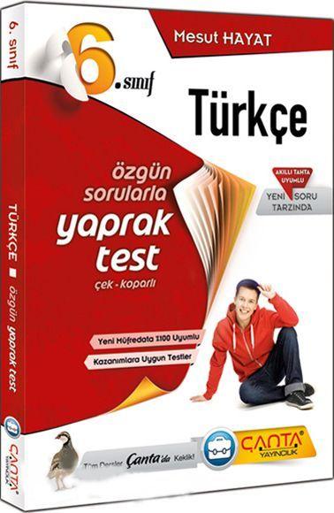 Çanta Yayınları 6. Sınıf Türkçe Yaprak Test