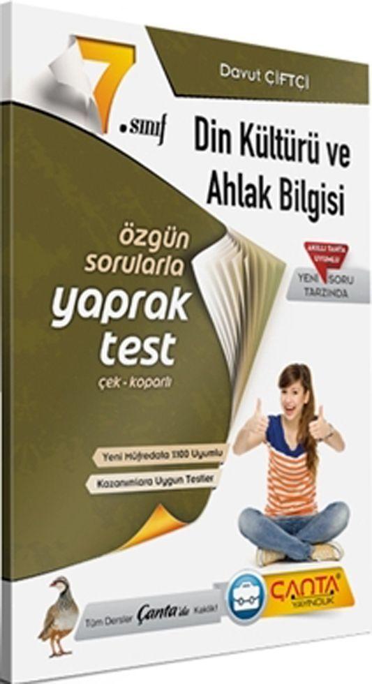 Çanta Yayınları 7. Sınıf Din Kültürü ve Ahlak Bilgisi Yaprak Test