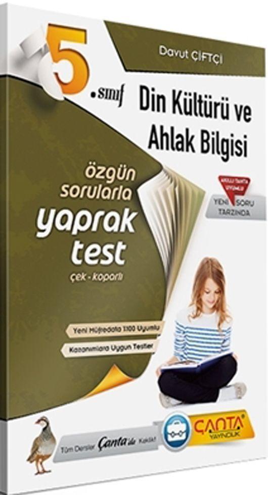 Çanta Yayınları 5. Sınıf Din Kültürü ve Ahlak Bilgisi Yaprak Test