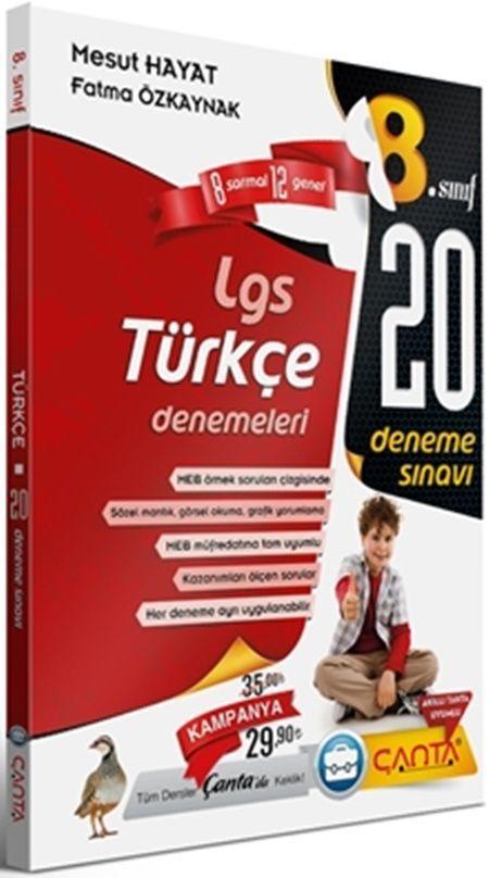 Çanta Yayınları 8. Sınıf Türkçe Lgs 20 Deneme Sınavı