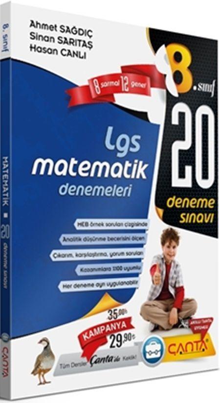Çanta Yayınları 8. Sınıf Matematik LGS20 Deneme Sınavı