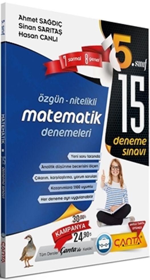 Çanta Yayınları 5. Sınıf Matematik 15 Deneme Sınavı