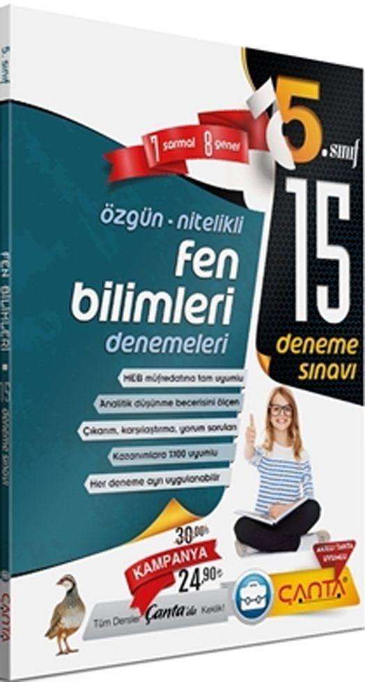 Çanta Yayınları 5. Sınıf Fen Bilimleri 15 Deneme Sınavı