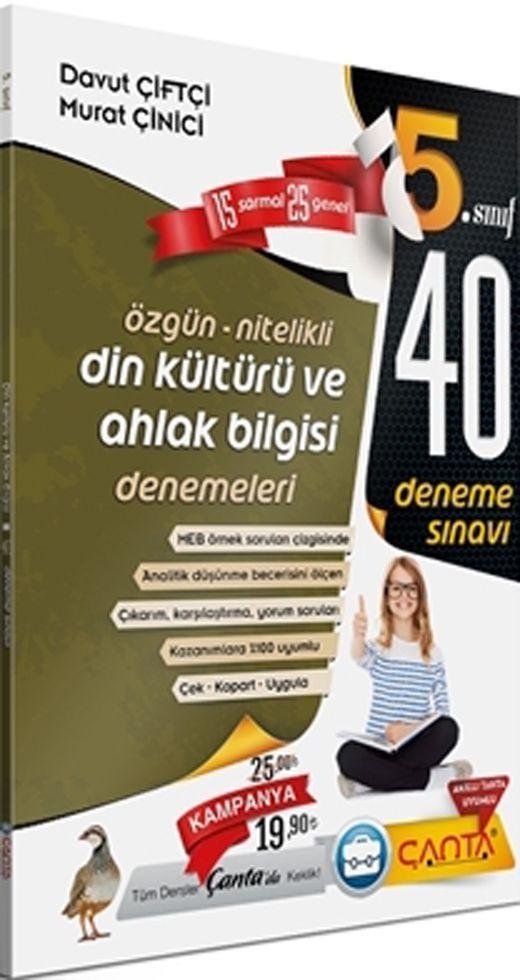 Çanta Yayınları 5. Sınıf Din Kültürü ve Ahlak Bilgisi 40 Deneme Sınavı