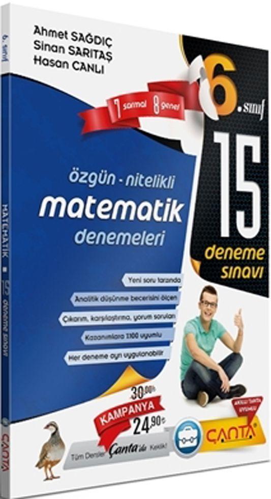 Çanta Yayınları 6. Sınıf Matematik 15 Deneme