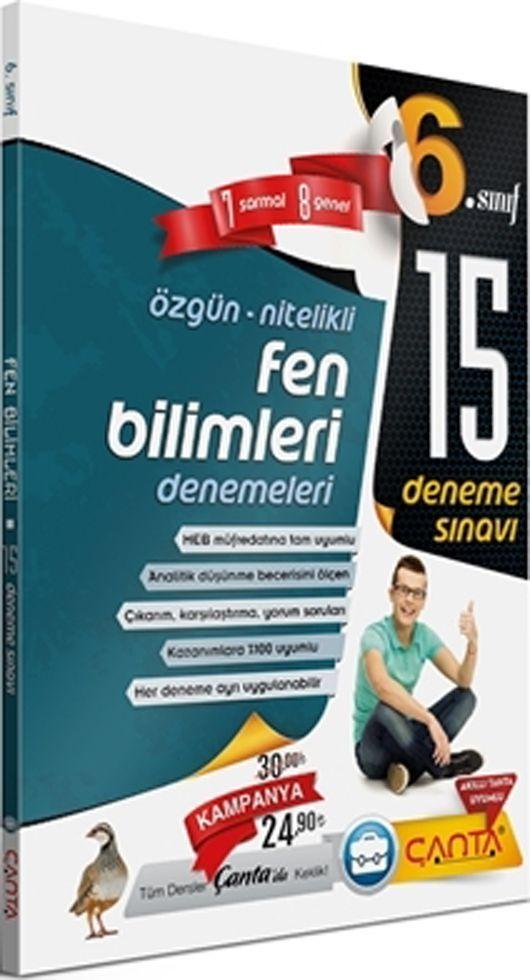 Çanta Yayınları 6. Sınıf Fen Bilimleri 15 Deneme Sınavı