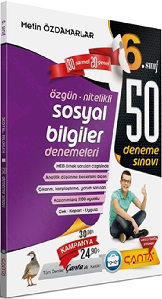 Çanta Yayınları 6. Sınıf Sosyal Bilgiler 50 Deneme Sınavı