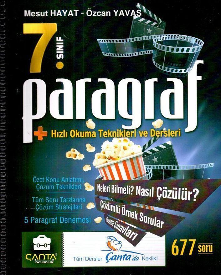 Çanta Yayınları 7.Sınıf Paragraf Hızlı Okuma Teknikleri ve Dersleri Defteri