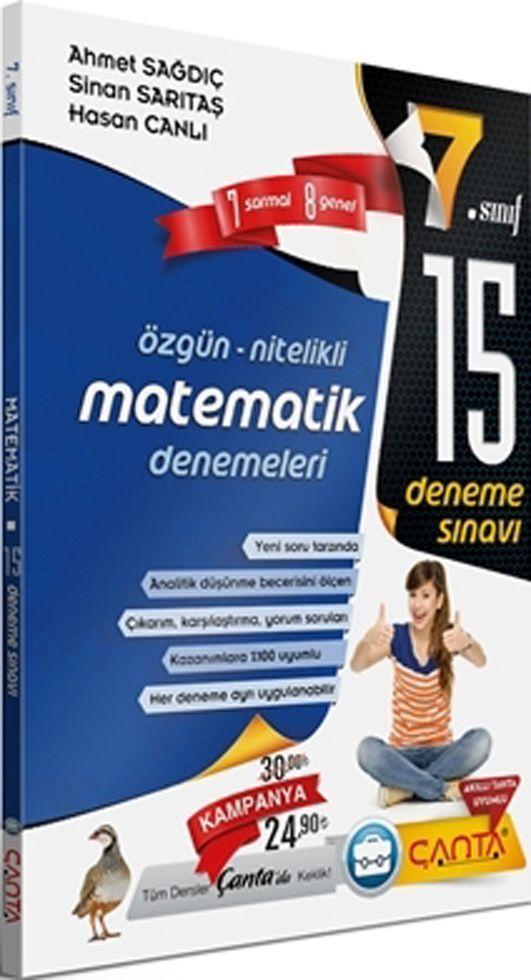 Çanta Yayınları 7. Sınıf Matematik 15 Deneme Sınavı