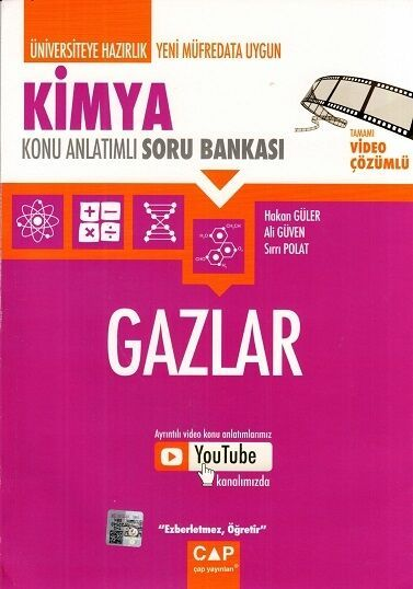 Çap Yayınları Üniversiteye Hazırlık Kimya Gazlar Konu Anlatımlı Soru Bankası