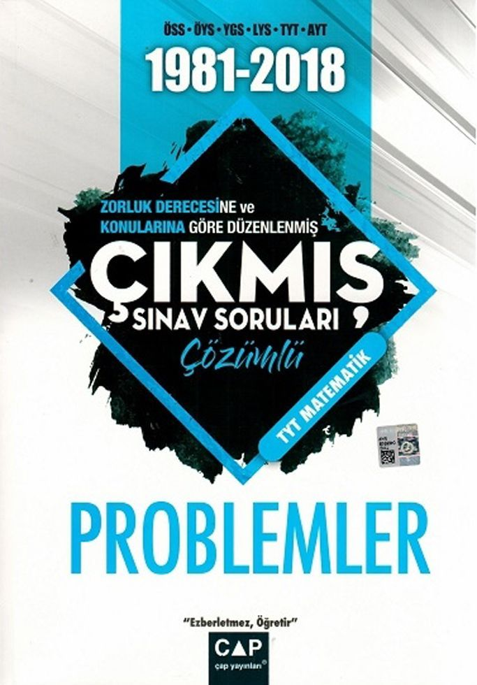 Çap Yayınları TYT Matematik Problemler Çözümlü Çıkmış Sınav Soruları