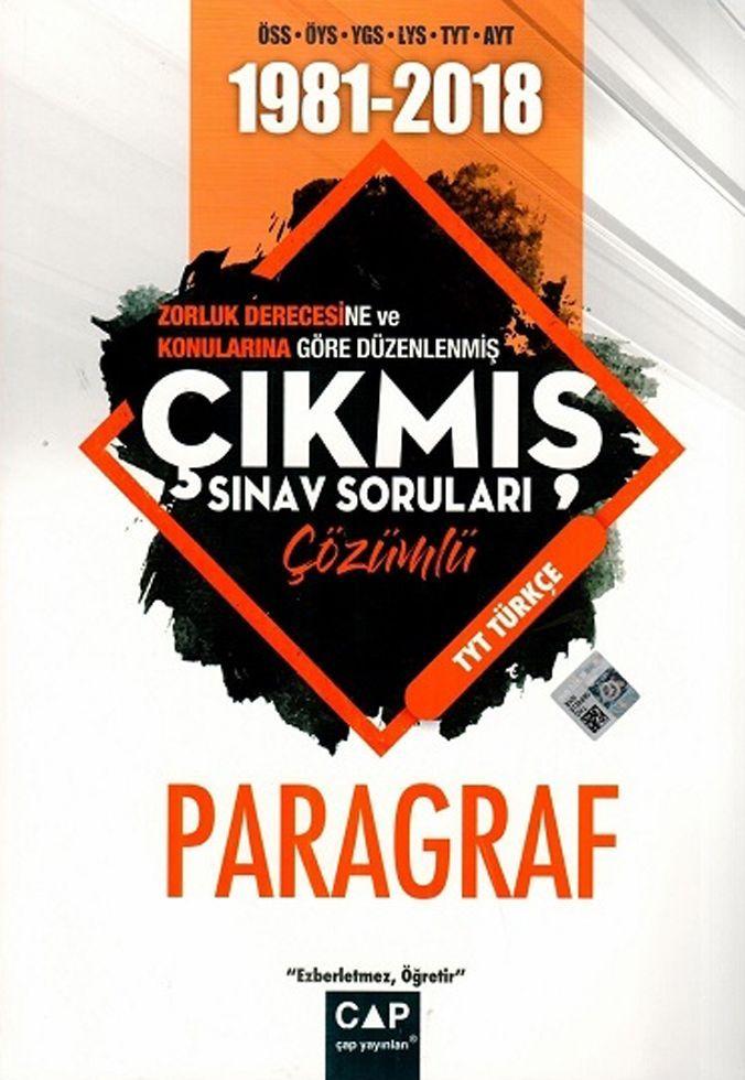 Çap Yayınları TYT Türkçe Paragraf Çözümlü Çıkmış Sınav Soruları