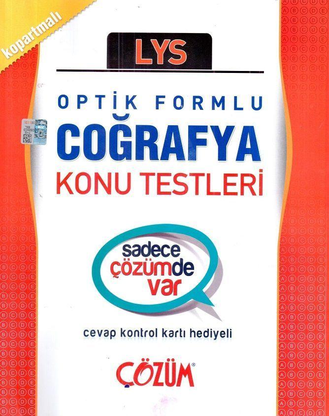 Çözüm Yayınları LYS Coğrafya Optik Formlu Konu Testleri