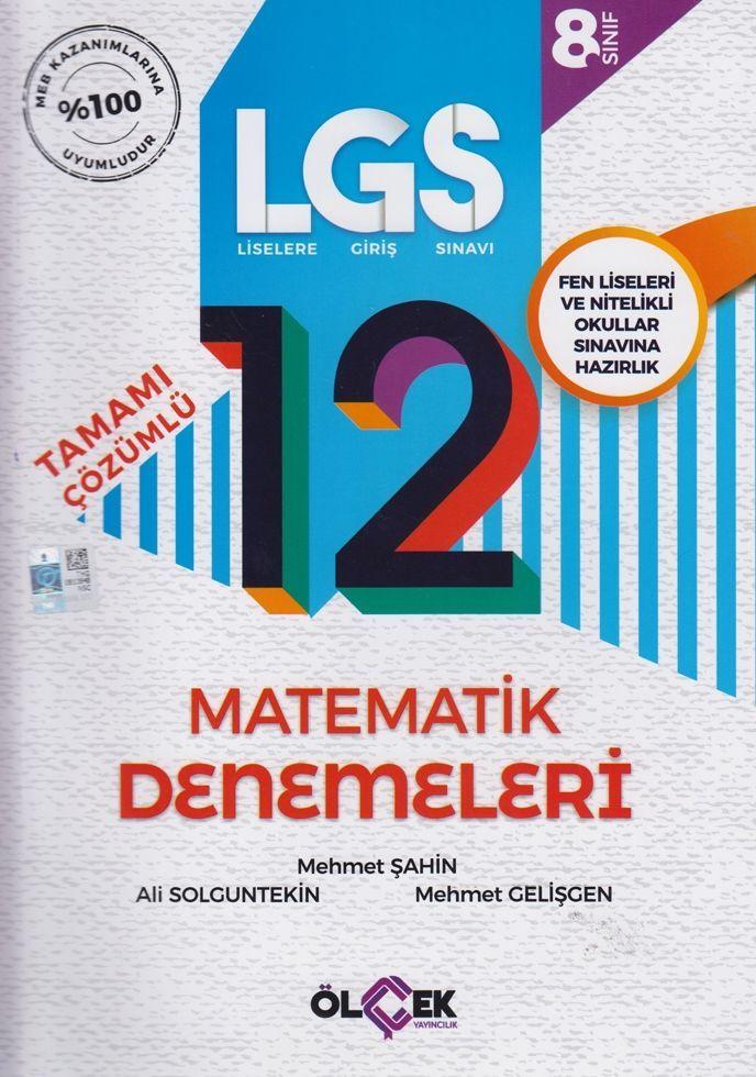 Ölçek Yayınları 8. Sınıf LGS Matematik Tamamı Çözümlü 12 Denemeleri
