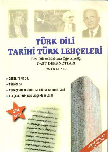 Ömür Güner 2019 ÖABT Türk Dili ve Tarihi Türk Lehçeleri Ders Notları