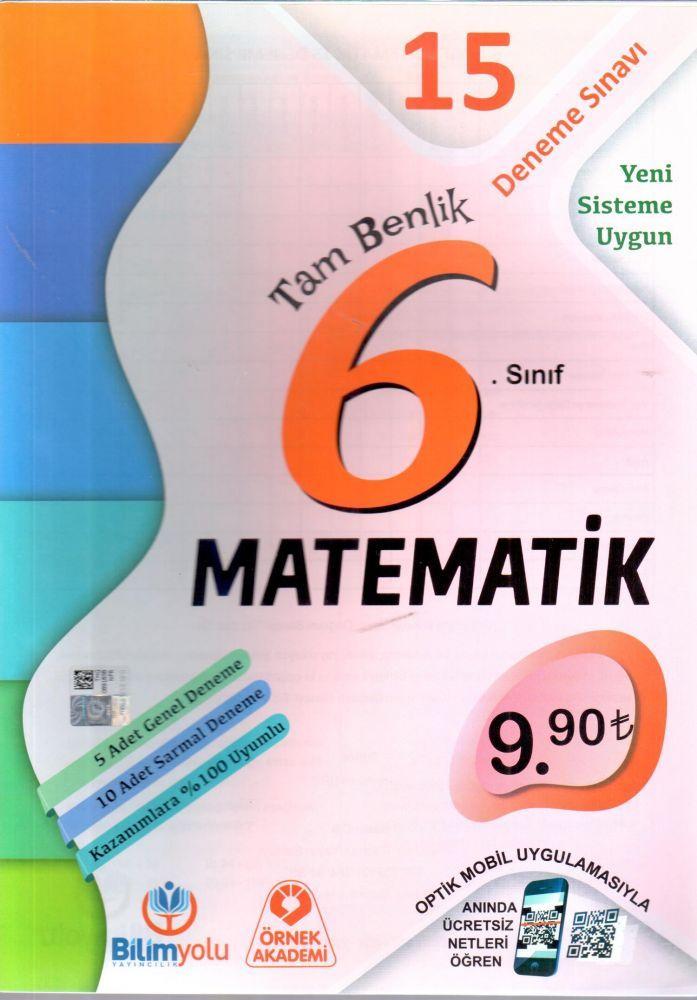 Örnek Akademi 6. Sınıf Tam Benlik Matematik 15 Deneme Sınavı Optikli