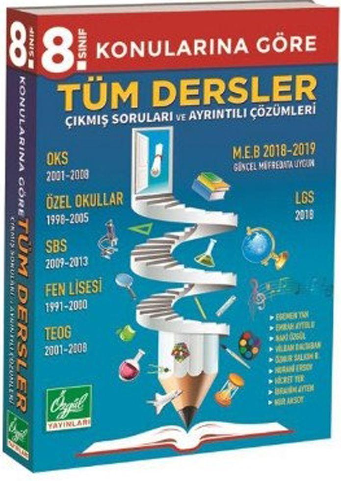 Özgül Yayınları 8. Sınıf Tüm Dersler Çıkmış Sorular ve Ayrıntılı Çözümleri
