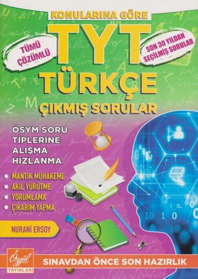Özgül Yayınları TYT Türkçe Tümü Çözümlü Çıkmış Sorular