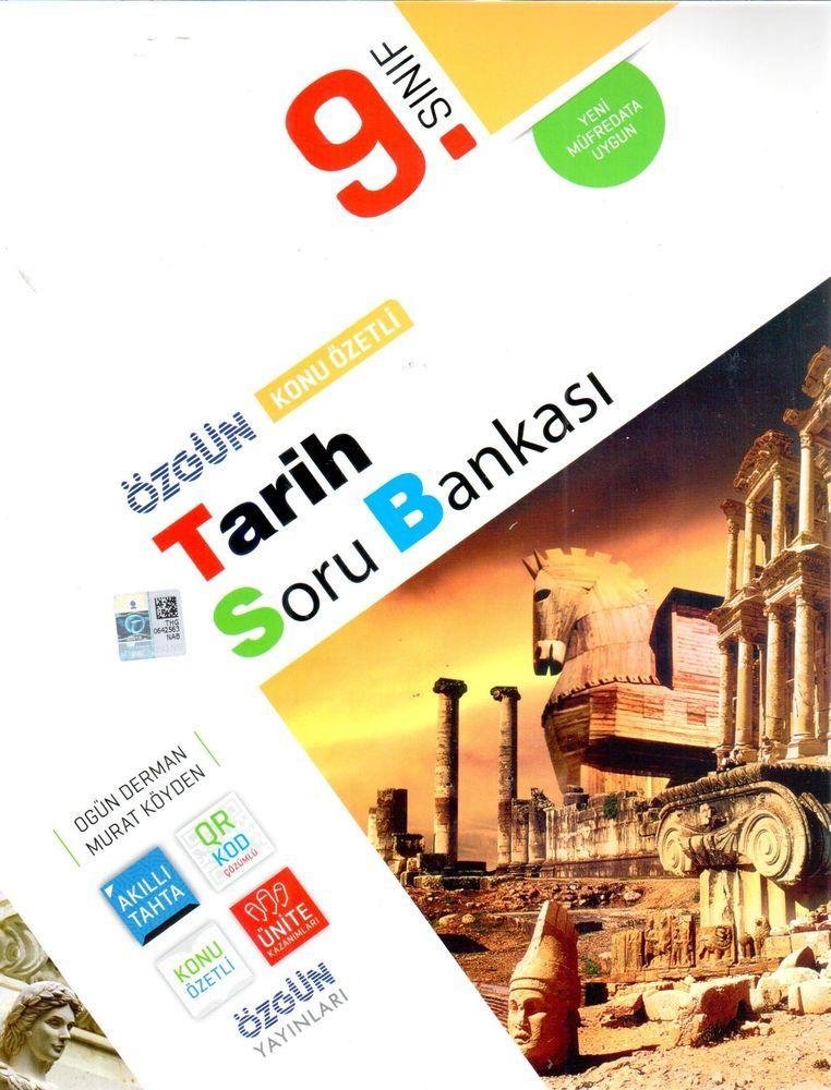 Özgün Yayınları 9.Sınıf Tarih Konu Özetli Soru Bankası
