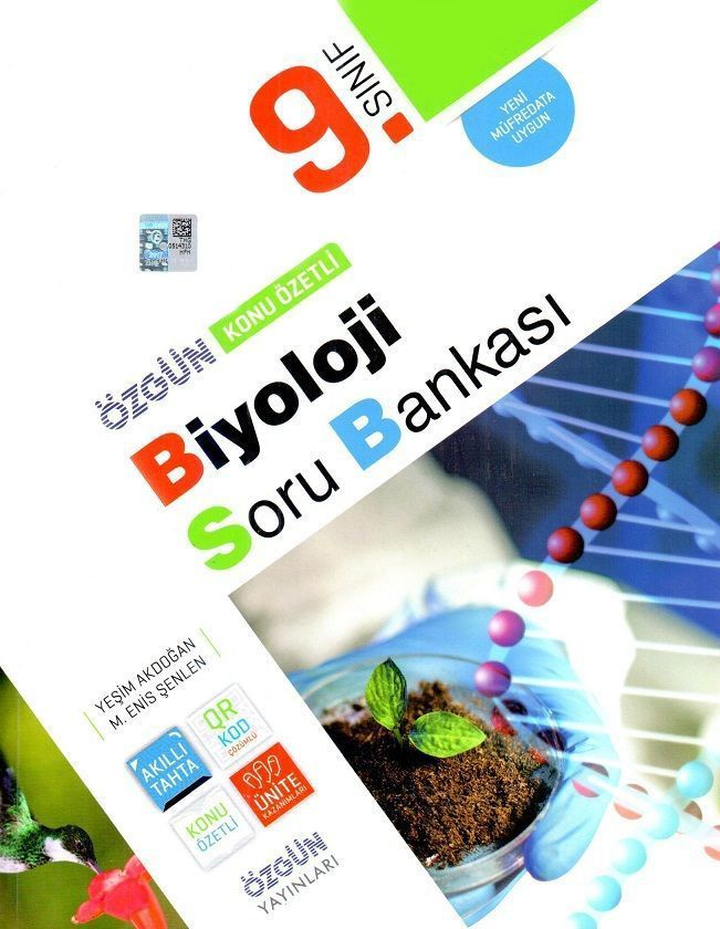 Özgün Yayınları 9. Sınıf Biyoloji Konu Özetli Soru Bankası