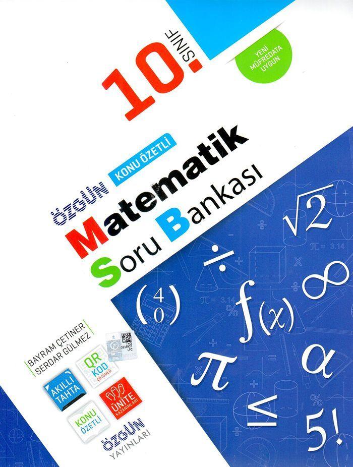 Özgün Yayınları 10. Sınıf Matematik Konu Özetli Soru Bankası